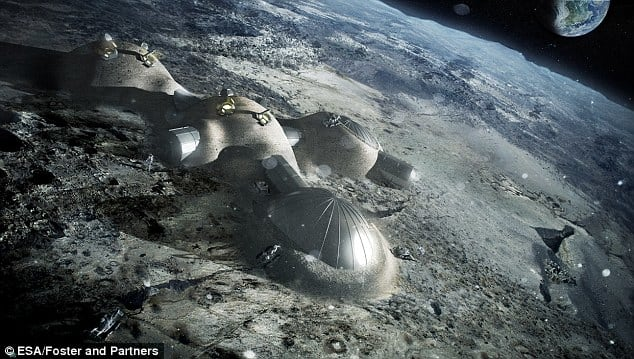 ESA månlandskap